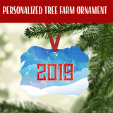 Personalized Tree Farm Christmas Ornament