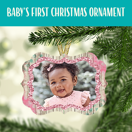 Baby Girl First Christmas Ornament