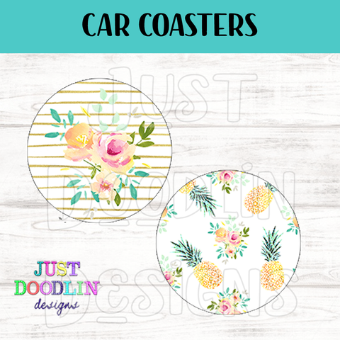Pineapple Car Coaster set