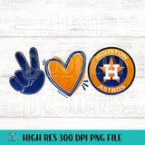 Houston Astros Peace Love and Astros Design