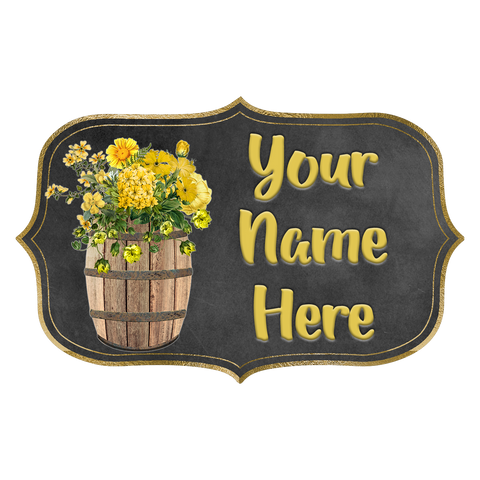 Shabby Barrel with Sunflowers Logo