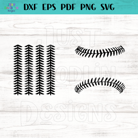 Baseball stitches SVG file