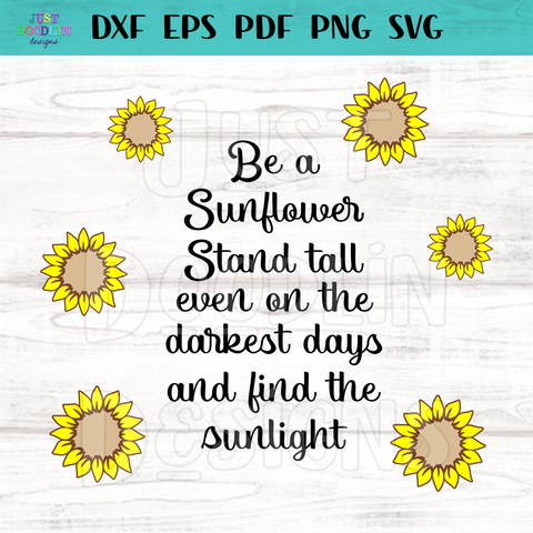 Stand Tall Sunflower SVG