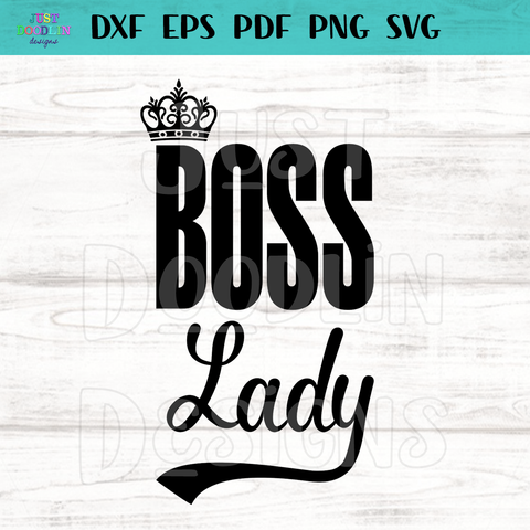Boss Lady SVG file