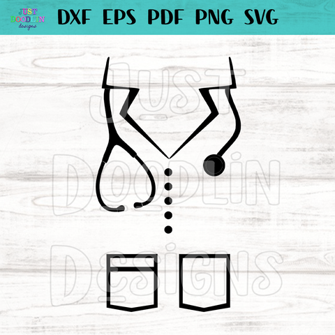 Scrub Top SVG