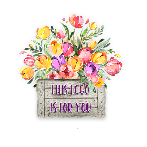 Feminine tulip business logo