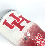 University of Houston Ombre Glitter Tumbler