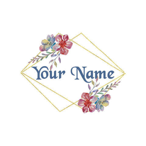 Gold Frame with Flowers Logo