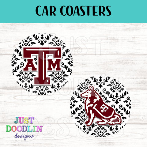 A & M Car Coaster set