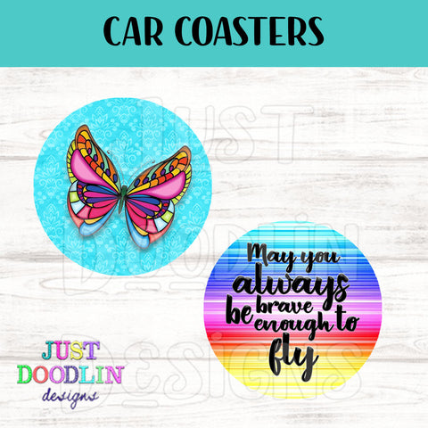 Butterfly Car Coaster set