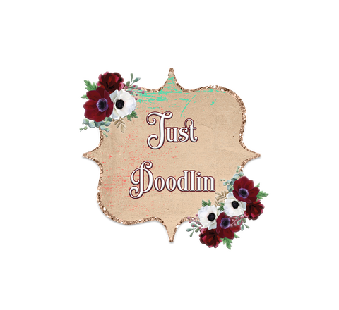 Shabby Red Floral Logo