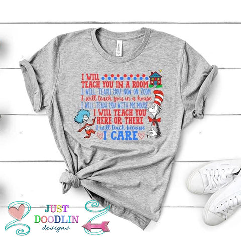 Dr. Suess I Will Teach On Zoom T-shirt