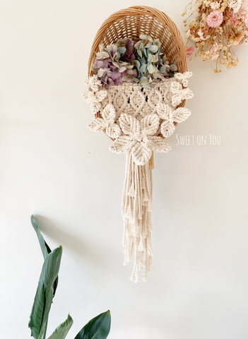 MACRAME WALL BASKET #6
