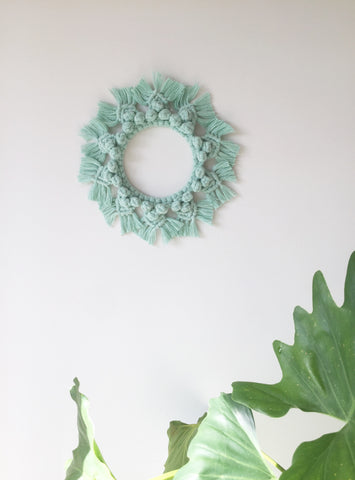 *PRE ORDER* SWEET MACRAME WREATH - MINT