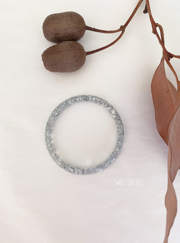SILVER LEAF RESIN BANGLE