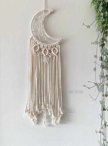 Custom MOON MACRAME DREAMER for Tegan
