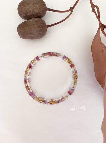 FLOWER RESIN BANGLE