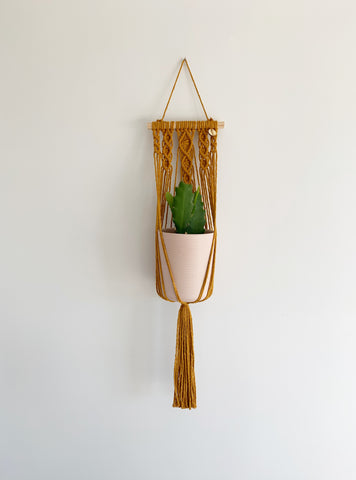 MUSTARD WALL POT HANGER