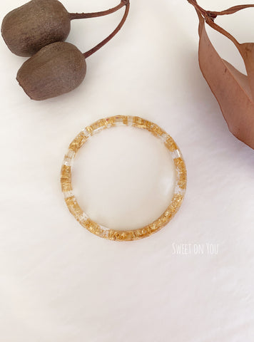 GOLD LEAF RESIN BANGLE