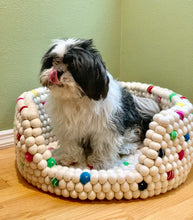 Load image into Gallery viewer, Custom Made to Order 100% Natural Wool Pet Bed - Sprinkles