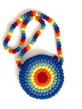 Load image into Gallery viewer, One-Of-A-Kind Handmade 100% Wool Handbag - Round, Multicolored Rings