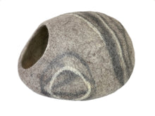 Load image into Gallery viewer, Extra Large Handmade 100% Natural Wool Cat Cave - XL Grey