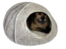 Load image into Gallery viewer, Handmade 100% Natural Wool Cat Cave - XL Grey