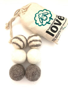 Eco-friendly Wool Dryer Balls- 6 Pack XL.