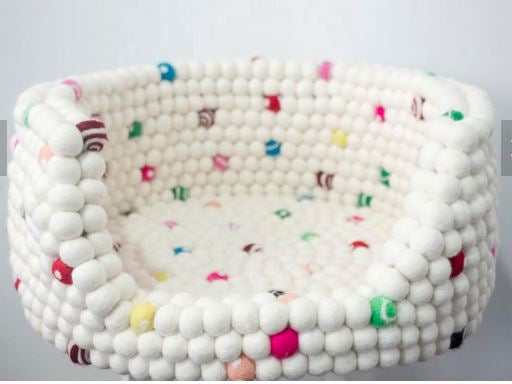 Copy of Custom Made to Order 100% Natural Wool Pet Bed - Sprinkles