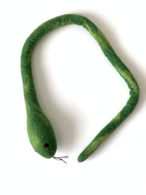 Long Snake Toy, Premium Wool Cat Toy - Interactive Wool Snake