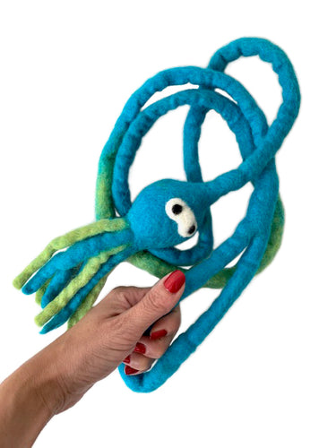 Octavius Interactive Wool Squid Cat Toy