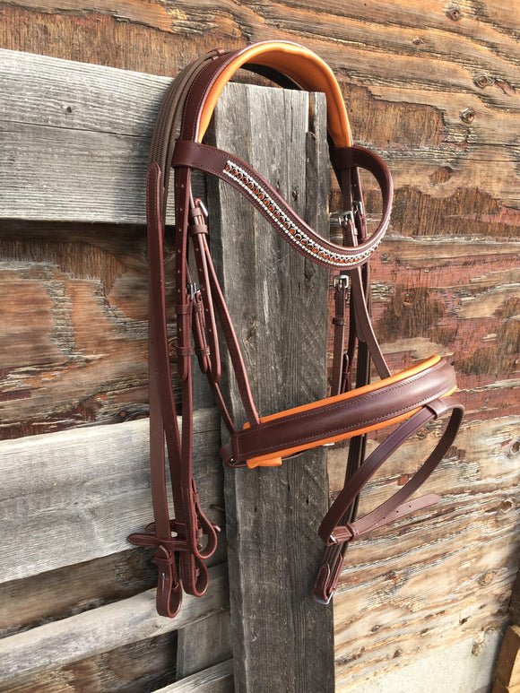 Oak Brown Monocrown Dressage Bridle