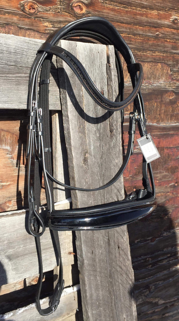 Black Patent Flashless Monocrown Bridle