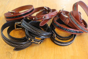 Leather Riding Belts