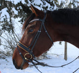 Caramel and Black Snaffle Bridle