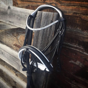 Black and White Dressage Bridle
