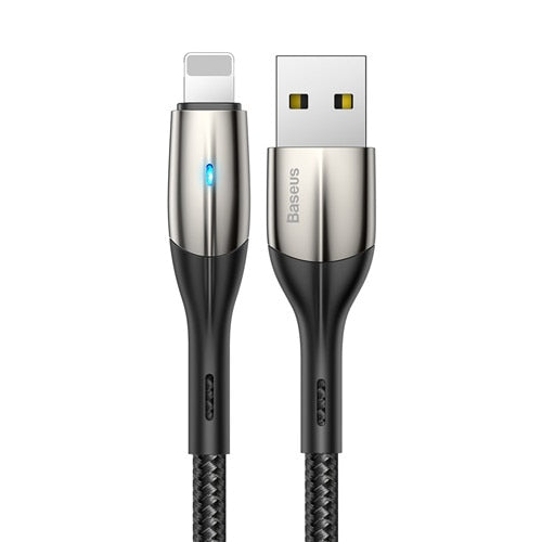 Baseus Zn-alloy Lighting Design USB Cable for iPhone xs max 1m 2.4A Charging Cable for iPhone X 8 7 6 plus Charger USB Cable