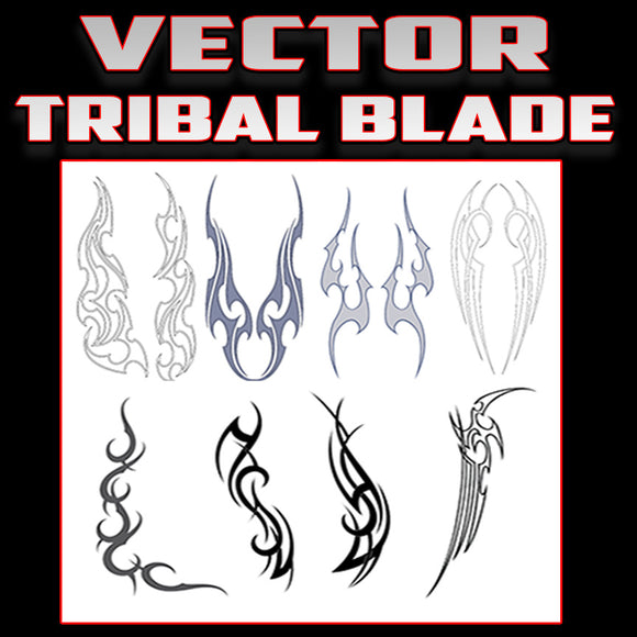 Tribal Blades vector set