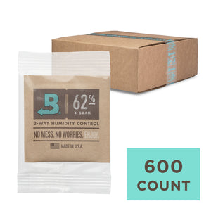 600 Unit Case Boveda Wholesale 4 Gram Overwrapped 62% RH