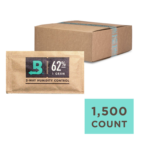1500 Unit Case Boveda Wholesale 1 Gram 62% RH