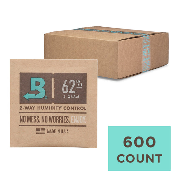 600 Unit Case Boveda Wholesale 4 Gram 62% RH