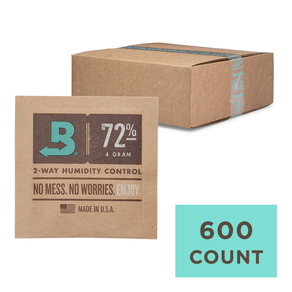 600 Unit Case Boveda Wholesale 4 Gram 72% RH