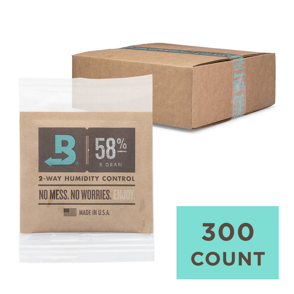 300 Unit Case Boveda Wholesale 8 Gram Overwrapped 58% RH