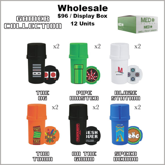 Medtainers- Premium Gamer Collection 12 Units- Bulk