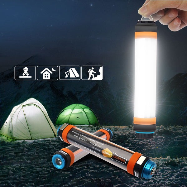 Waterproof Outdoor Camping LED Lamp & Powerbank - 2600mAh