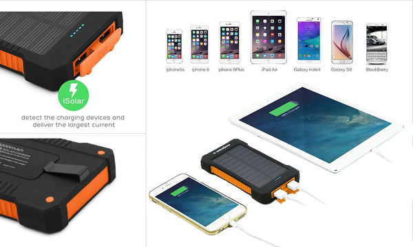 Solar Charger Power Bank - 10000mAh