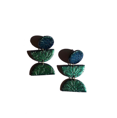 Talavera Pattern Dangles-Poison Ivy Shift