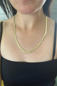 Snake Chain-Gold Stainless Steel