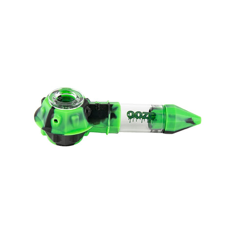 Ooze Bowser Silicone Pipe / Loose / Black & Green