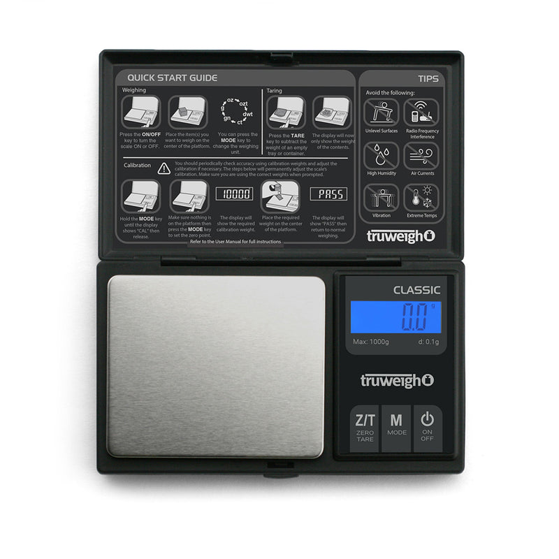 Truweigh Classic Digital Mini Scale Black